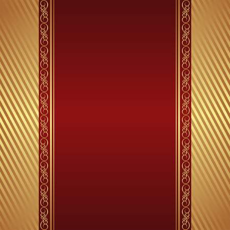 crimson background with golden ornaments Çizim