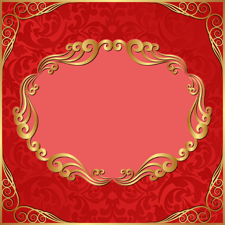 background red: rotem Hintergrund mit goldenen Ornamenten
