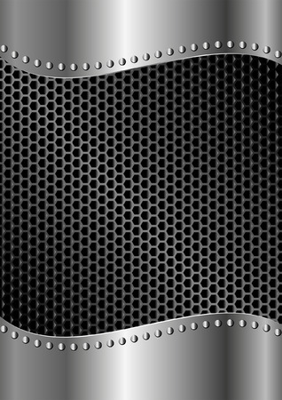 tread plate: metallic background with mesh texture