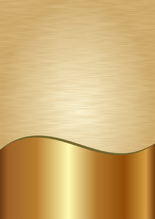 divided: golden background divided into two - scratched and polished