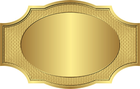 reflective background: gold vintage frame