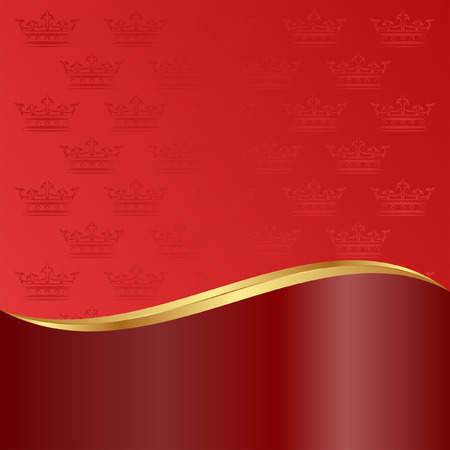 claret red: red background with crowns
