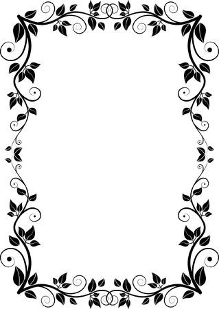 rectangular floral frame