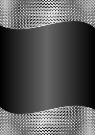 black background with metallic texture