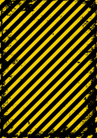 hazard tape: yellow and black grunge barricade tape Illustration