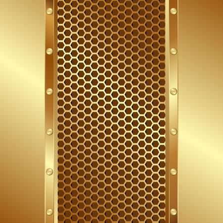 sfondo dorato con griglia trama Vettoriali
