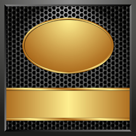golden frames: dark background with golden frames Illustration