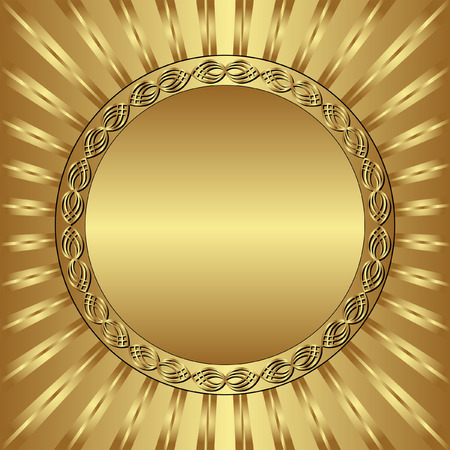 background with gold round frame