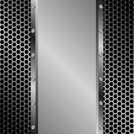 grille: iron background with grille texture
