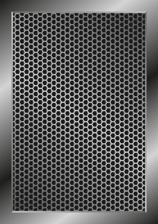 grillage: metallic background with grate texture