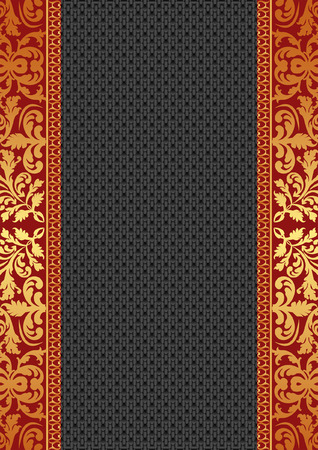 black textured background with golden ornaments