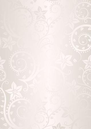 ecru: ecru background with floral ornaments Illustration