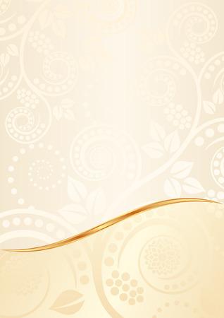 divided: ecru background with floral ornaments Illustration