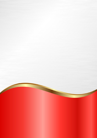 divided: white and red background divided into two Illustration