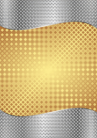 gold and silver metallic background  Illustration
