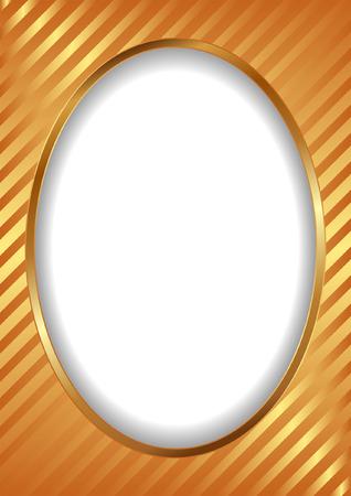 golden frame with stripes Vector