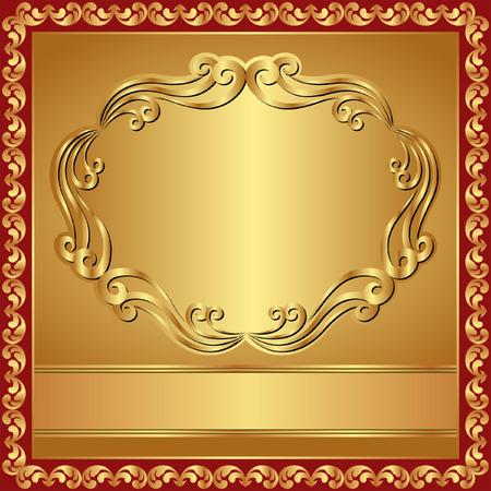 quadratic: sfondo dorato con bordo
