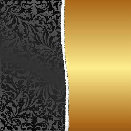 plied: black and gold ragged background Illustration