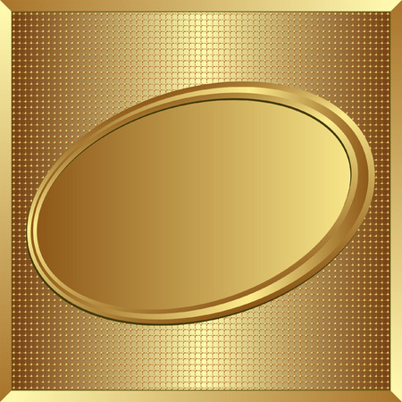 brushed gold: golden background with copy space