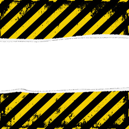 hazard tape: yellow and black stripes with transparent space insert