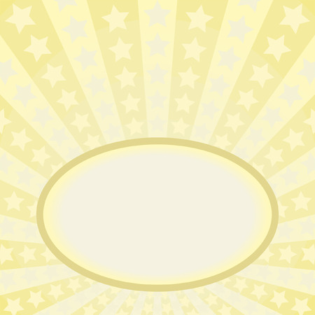 yellow star: yellow background with frame and stars Illustration