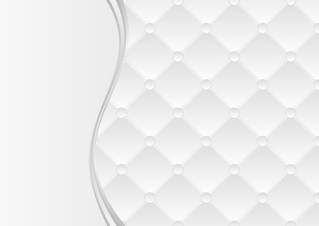 white background with quilted pattern Vector