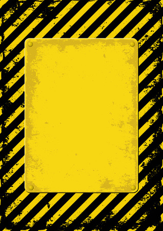 dangerous construction: yellow and black grunge background