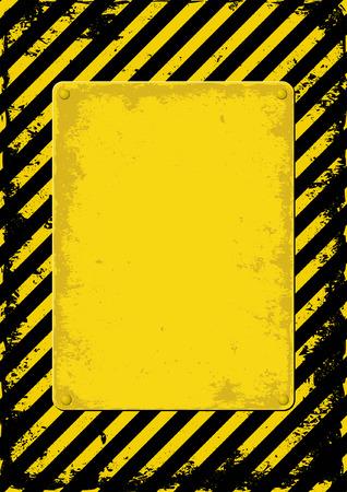 hazard tape: yellow and black grunge background