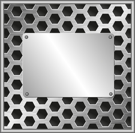 gold plaque: metal background  with  banner
