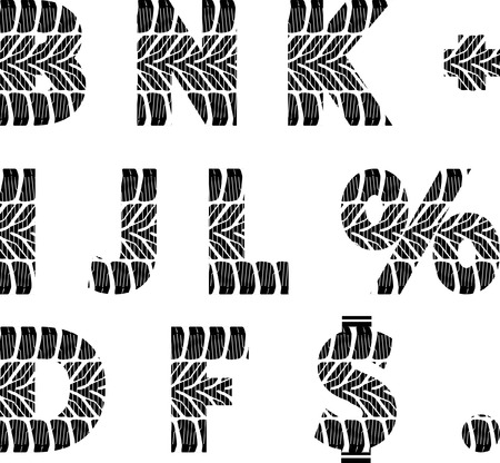 font with tire track Vector