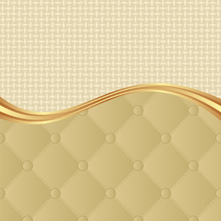 quilted: beige background with quilted pattern