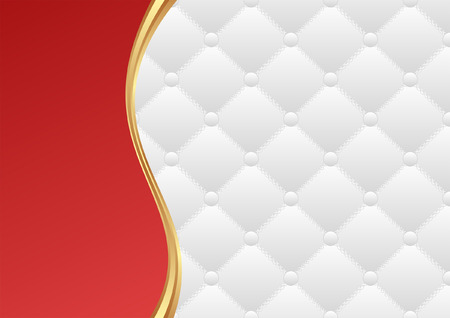 red and white background with quilted pattern Vector