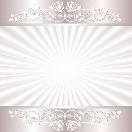 light background with floral ornaments Illustration