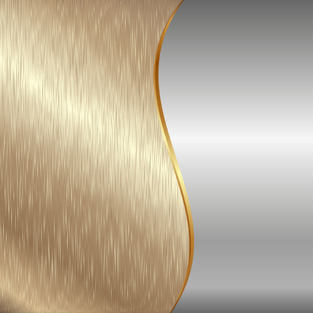 silver background: gold and iron metallic background