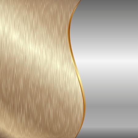 brushed aluminum background: gold and iron metallic background
