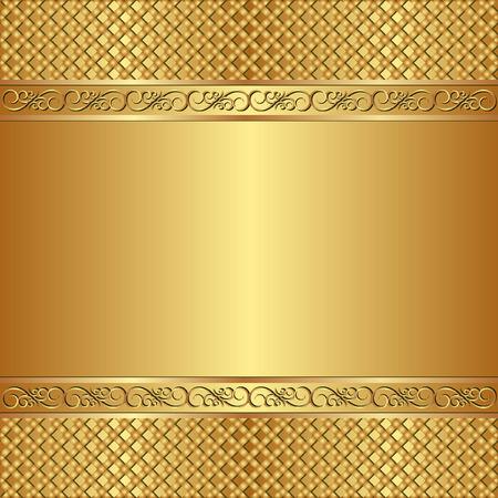 marcos decorados: fondo de oro con adornos