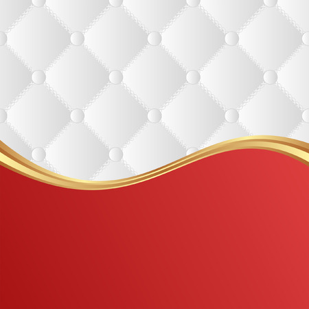 quilted fabric: white and red background