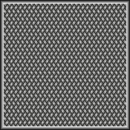 pleat: gray wicker background or texture Illustration