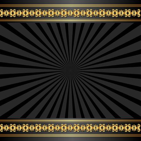 black border: black background with golden border