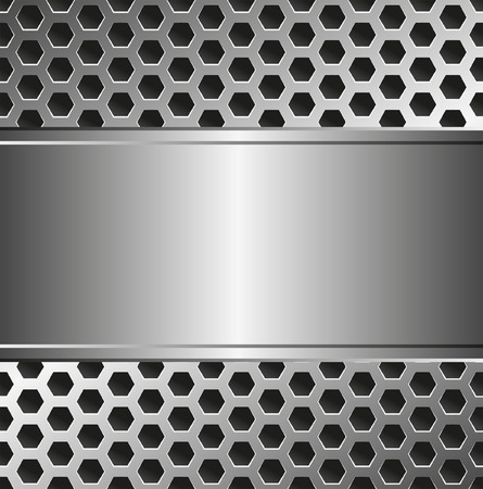 tread plate: metallic background with copy space Illustration