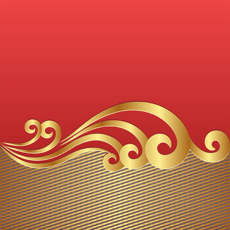 background red: rotem Hintergrund mit goldener Verzierung
