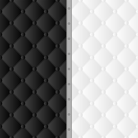 quilted fabric: black and white background with pattern Illustration