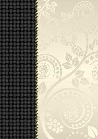 plexus: floral background with braid pattern