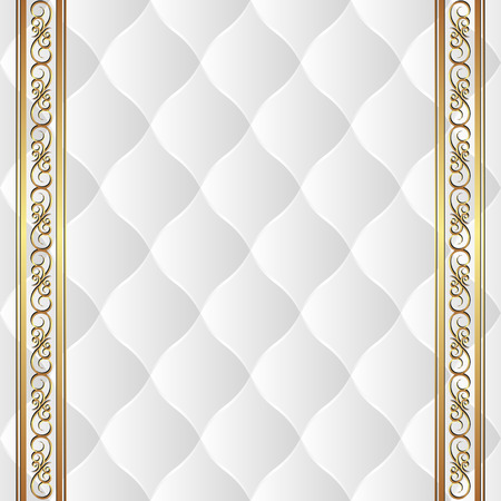 white bacground: fundamento blanco con adornos de oro
