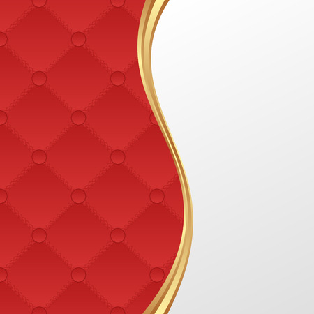 quilted fabric: red and white background Illustration
