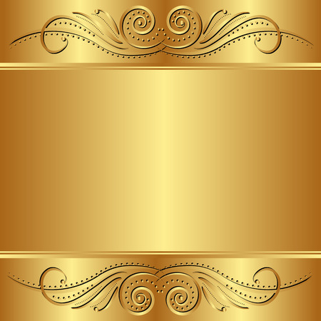 golden background: golden  background with ornaments