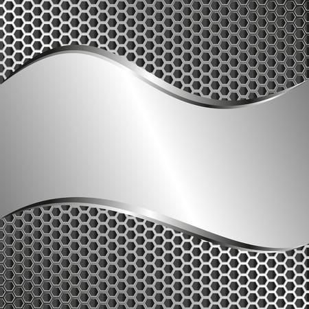 tread: metallic background with tread texture
