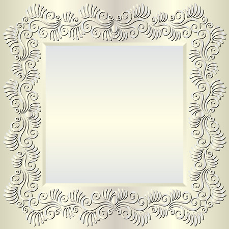 shone: bright background with floral ornaments