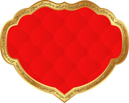 decorative frame: red background with decorative frame Illustration