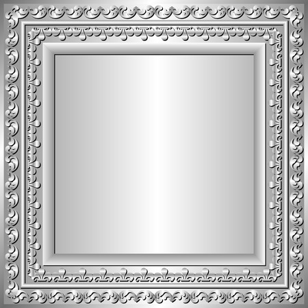 silver frame: silver frame with ornaments